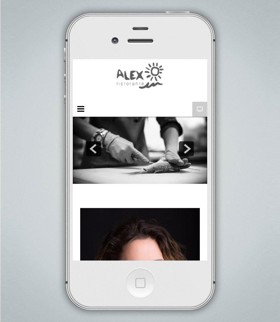 Version Responsive sito internet Alex ristorante